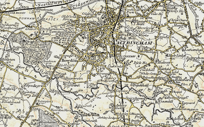 Old map of Hale in 1903