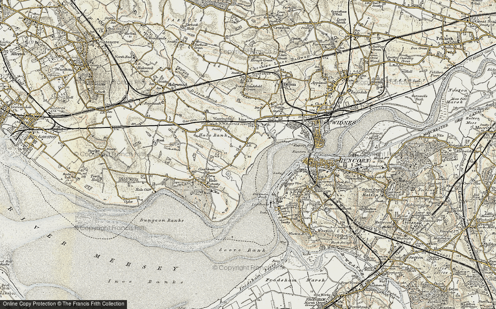 Old Map of Hale Bank, 1902-1903 in 1902-1903