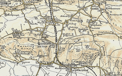 Old map of Winterhead Hill in 1899-1900