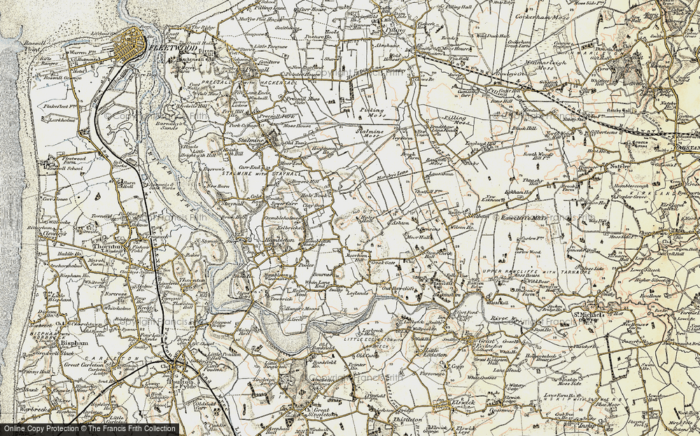Old Map of Historic Map covering Ashton in 1903-1904
