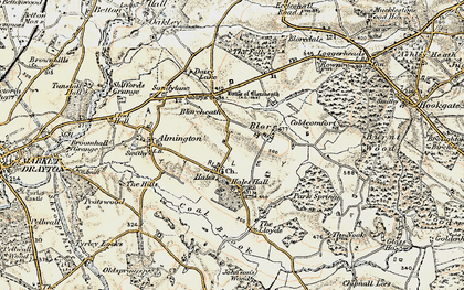 Old map of Hales in 1902