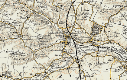 Old map of Halesworth in 1901-1902