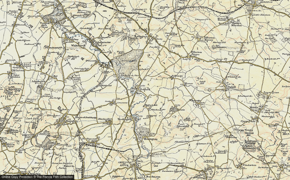 Old Map of Halford, 1899-1901 in 1899-1901