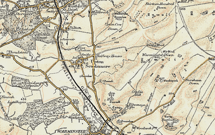 Old map of Halfway in 1898-1899