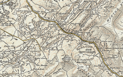 Old map of Halfway in 1900-1901