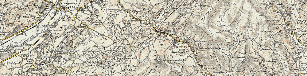 Old map of Y Pigwn (Roman Camps) in 1900-1901