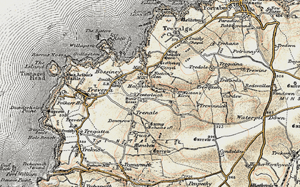 Old map of Halgabron in 1900