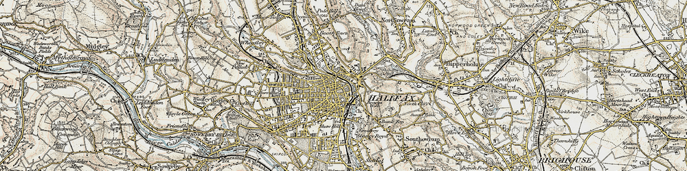 Old map of Halifax in 1903