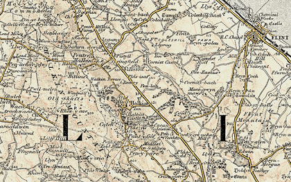 Old map of Halkyn in 1902-1903