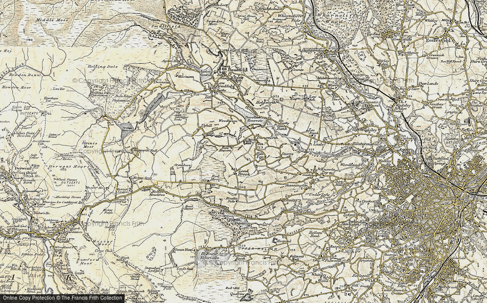 Old Map of Historic Map covering Tom Hill in 1903