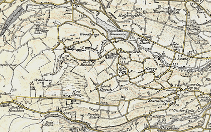 Old map of Tom Hill in 1903