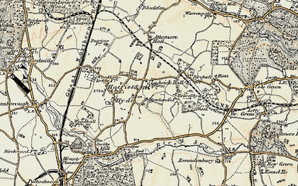 Old map of Hall Grove in 1898