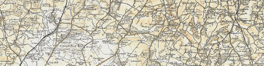 Old map of Halland in 1898