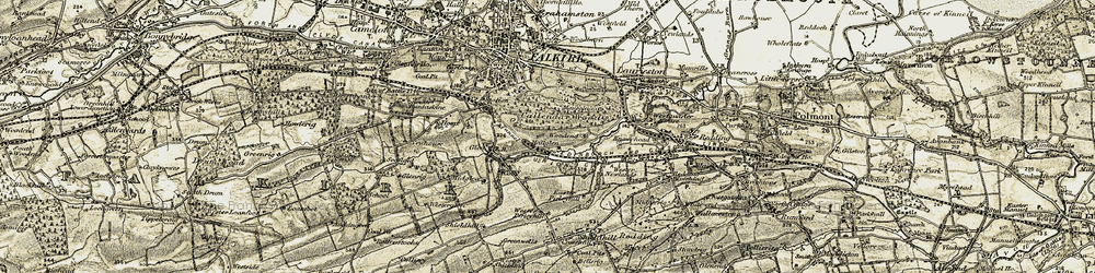 Old map of Wester Pirleyhill in 1904-1906