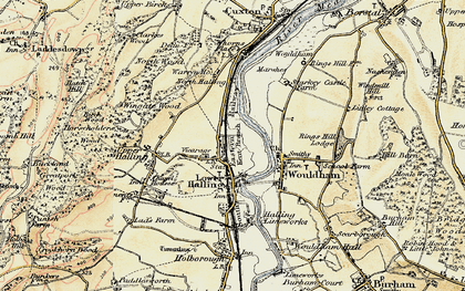 Old map of Halling in 1897-1898
