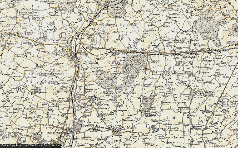 Old Map of Historic Map covering Woods, The in 1898-1899