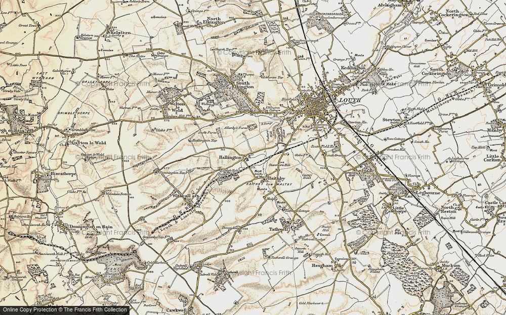Old Map of Historic Map covering Allenby's Furze in 1902-1903