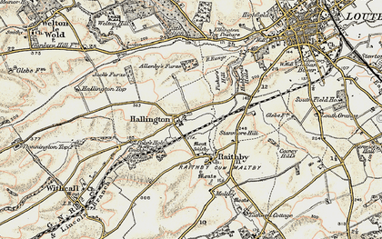 Old map of Allenby's Furze in 1902-1903