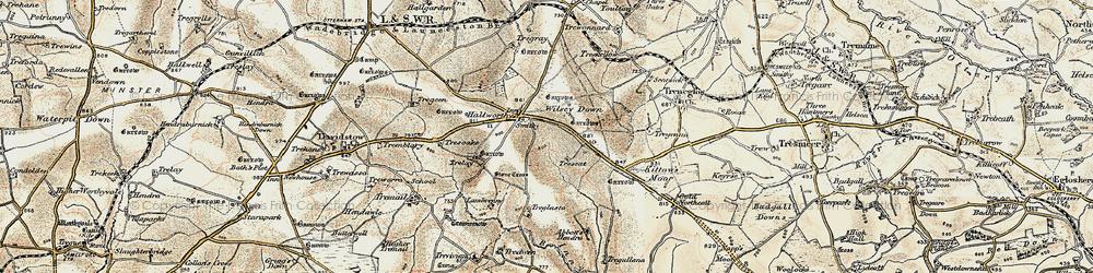 Old map of Wilsey Down in 1900