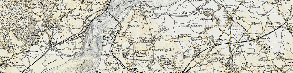 Old map of Acton Hall in 1899-1900