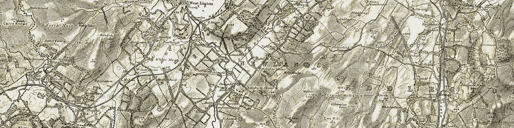 Old map of Whitmuir in 1903-1904