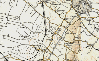 Old map of Halsall in 1902-1903