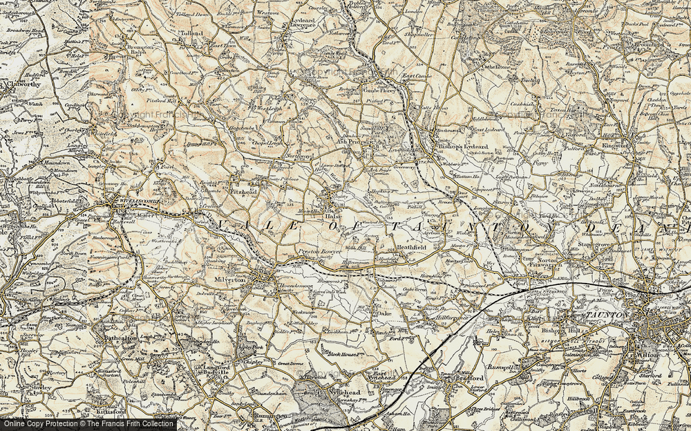 Old Map of Halse, 1898-1900 in 1898-1900