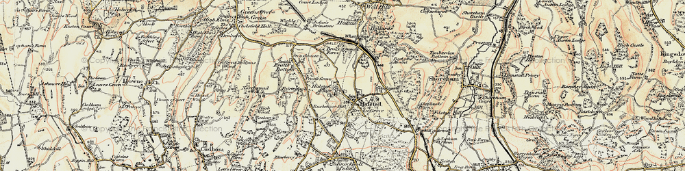 Old map of Halstead in 1897-1902
