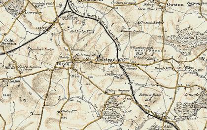 Old map of Tilton Grange in 1901-1903