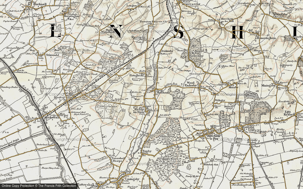 Old Map of Haltham, 1902-1903 in 1902-1903
