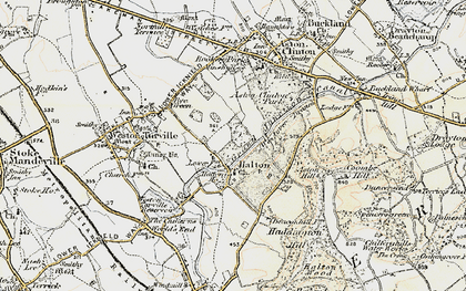 Old map of Halton in 1898
