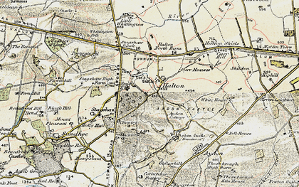 Old map of Whittington Fell in 1901-1903