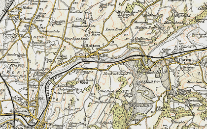 Old map of Halton in 1903-1904