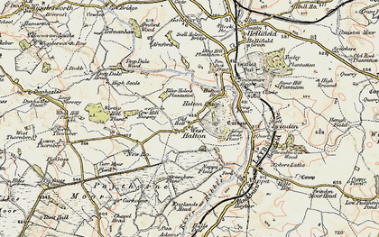 Old map of Halton West in 1903-1904