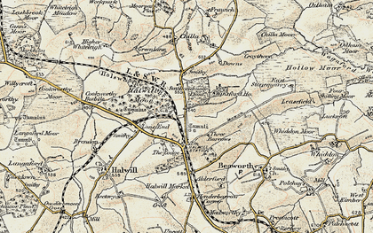 Old map of Winsford in 1900