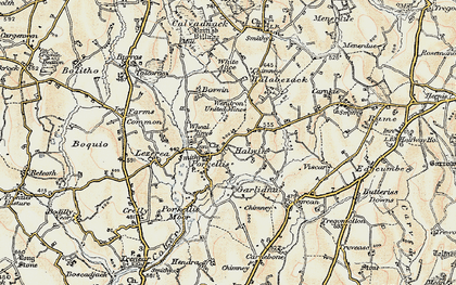 Old map of Halwin in 1900