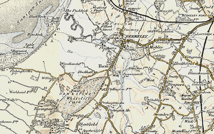 Old map of Ham Green in 1899-1900