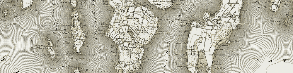 Old map of Hamarhill in 1912