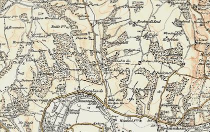 Old map of Hambleden in 1897-1898