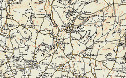 Old map of Hambledon in 1897-1900