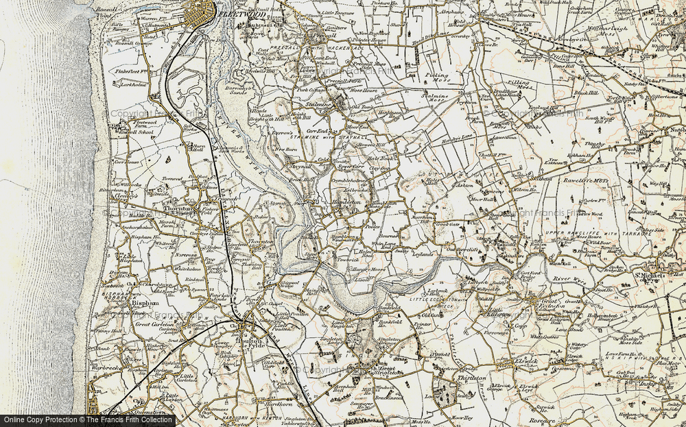 Old Map of Hambleton, 1903-1904 in 1903-1904