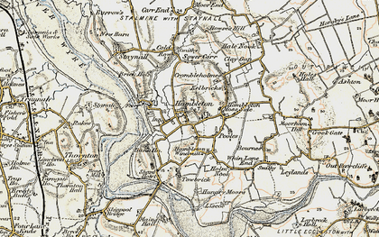Old map of Hambleton in 1903-1904