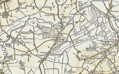 Old map of Westport Canal in 1898-1900