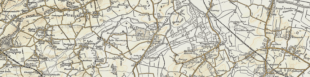 Old map of Hambridge in 1898-1900