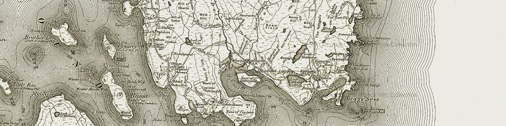 Old map of Whirly in 1912