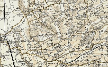 Old map of Bache in 1899-1902