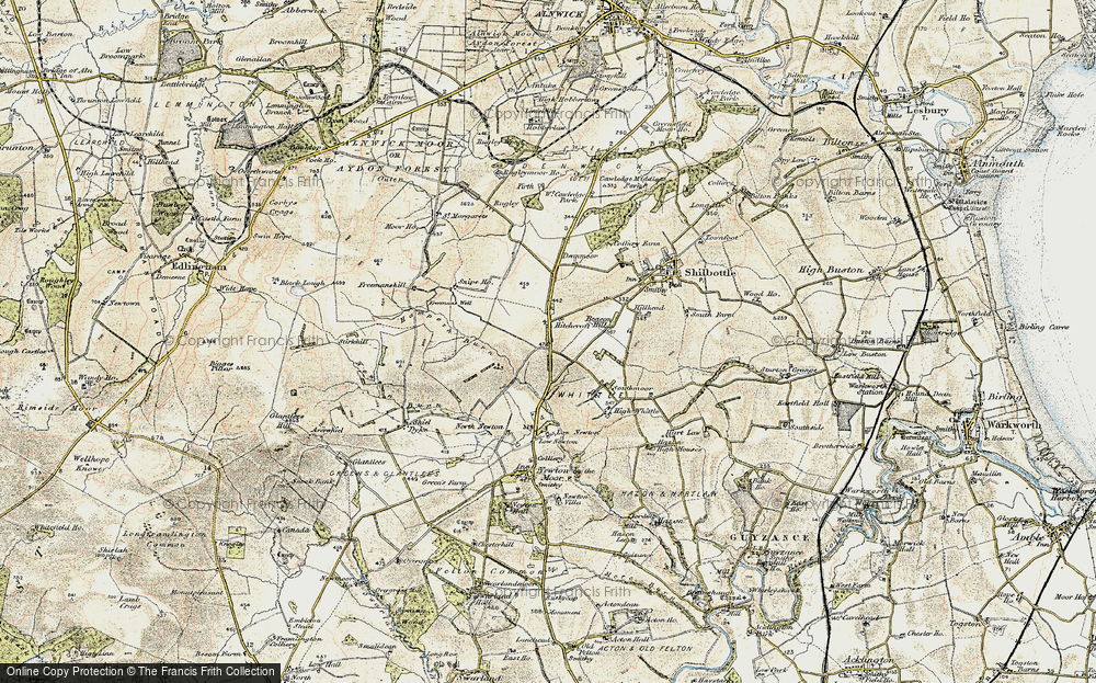 Old Map of Historic Map covering Whittle Colliery in 1901-1903
