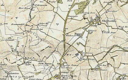 Old map of Whittle Colliery in 1901-1903