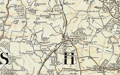 Old map of Hampstead Norreys in 1897-1900