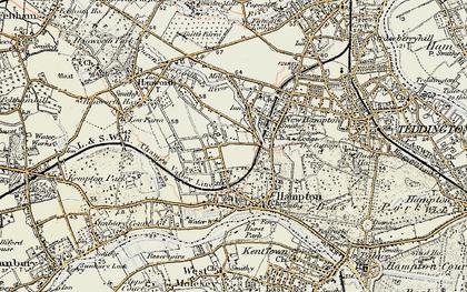 Old map of Hampton in 1897-1909